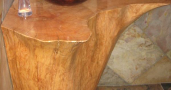 Stump sink curiosidades ideas pinterest troncos for Fregaderos de barro