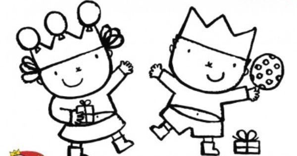 Koningsdag Kroon Kleurplaat Kleurplaat Karel En Kaatje Karel En Kaatje Liesbeth