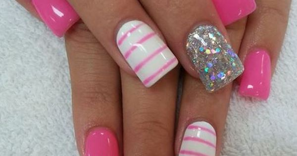 pink nail art designs Pink Nail Designs Easy