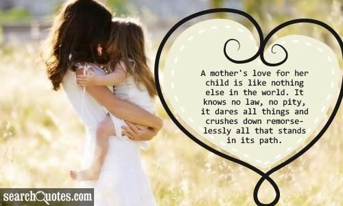 """Nothing Can Ever Replace: """"A Mother's Unconditional Love"""