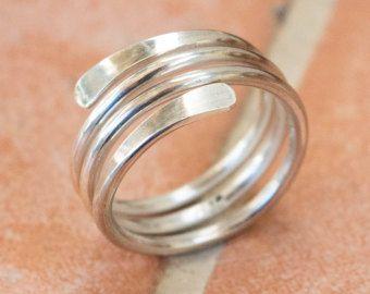 ring silver brushed Ring silver Adjustable ring men thumb ring unisex ring matte silver ring wedding ring women ring