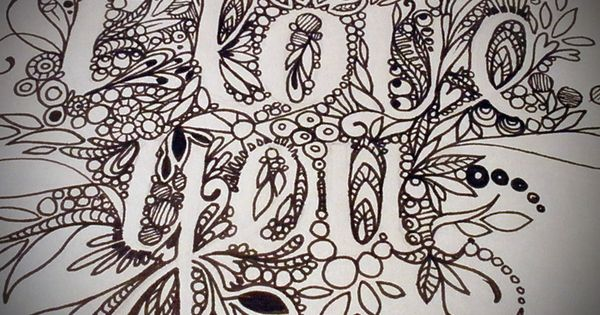 I love you original drawing by sproutingart on etsy art for Brandon boyd mural