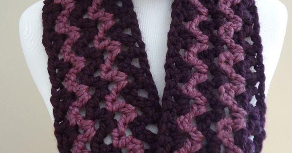 Free Printable Easy Crochet Scarf Patterns : Printable Crochet Infinity Scarf Pattern ... in ...