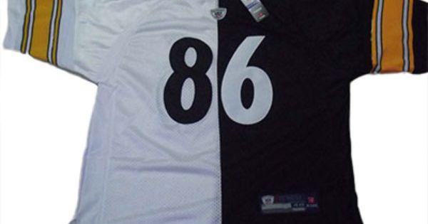 Nike Pittsburgh Steelers #86 Ward white black half & half NFL ...