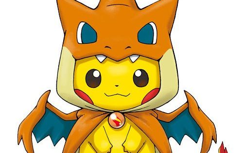 Pikachu Wearing A Mega Charizard Poncho Takes Kawaii To A