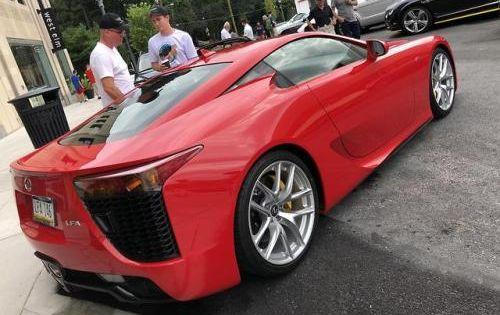 Red V10 Lexus Lfa At A Local Car Meet Via Reddit Lexus Lfa Lexus Car