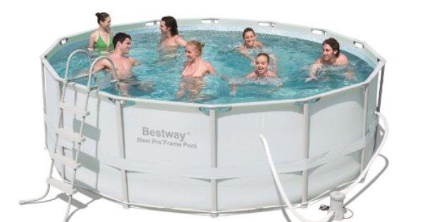 Bestway 56265us Steel Pro Frame Pool Set 14 Feet By 48 Inch Http Www Hundredsoftoys Com Bestway 56265us S Bestway Swimming Pool Accessories In Ground Pools