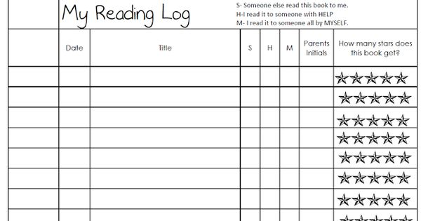 our cool school  my first reading log  will make my own