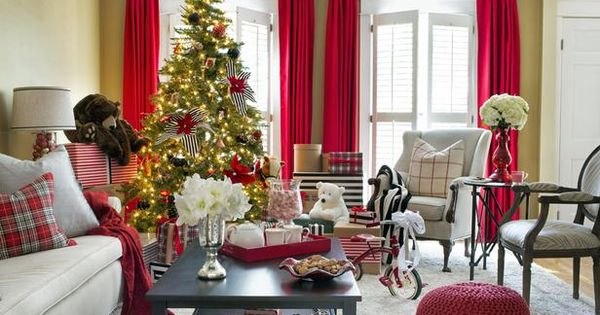 I love switching out drapes and pillows for the holidays!! We love