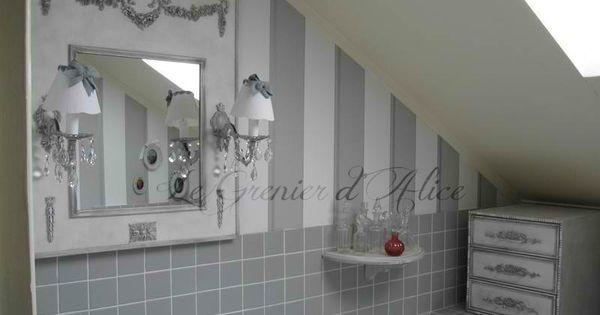 jolie d coration salle de bain shabby chic d coration romantique trumeau et shabby chic. Black Bedroom Furniture Sets. Home Design Ideas