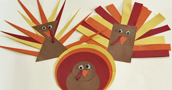 Shape Turkeys. Lots of fine motor coordination in cutting and pasting. Thanksgiving