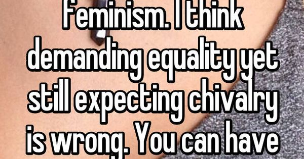 Chivalry womens rights