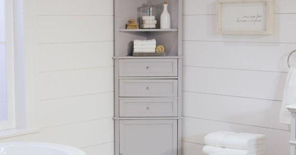Home Decorators Collection Hampton Harbor 23 In W X 13 In D X 67 1 2 In H Corner Linen Storage Cabinet In Dove Grey Bf 21893 Dg Corner Linen Cabinet Fancy Bathroom Linen Cabinet