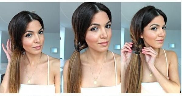 hair styles and cuts twist ponytail hairstyle tutorial side ponytail hair 6564