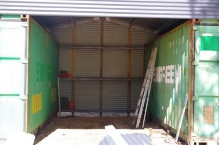 Inside Space Of Shipping Container Shed Building A Container Home Container House Shipping Container Homes
