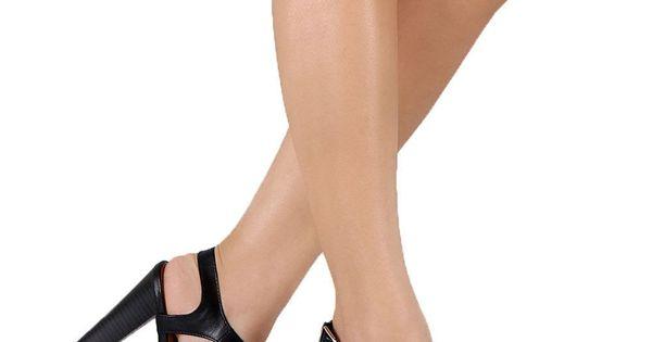 New Women Breckelles Devie-01 PU Open Toe Ankle Strap Chunky Heel Sandal