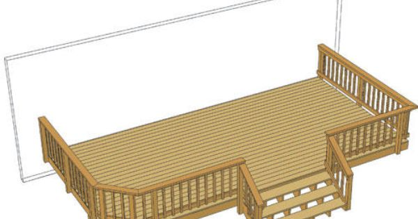24 X 12 Deck W Wide Stairs At Menards Decks And Porches Swimming Pool Landscaping Deck