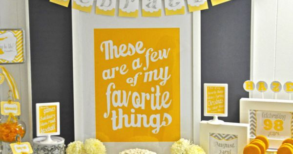 Few of My Favorite Things Birthday Party Ideas | Photo 1 of