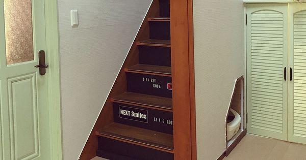 Diy 玄関 入り口 10000人の暮らし 階段下スペース 階段下収納diy 猫