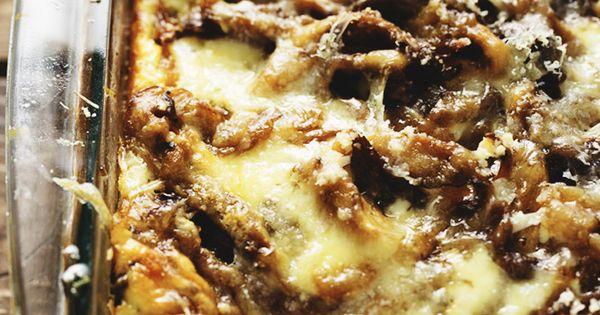 Ricotta and oyster mushroom lasagna recipe miss a for Morel mushroom recipes food network