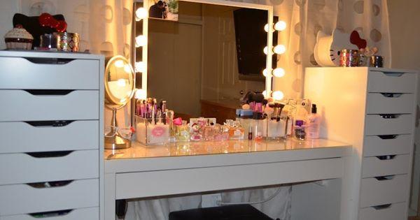 Alex 9 drawer ikea makeup storage malm vanity my pics - Malm dressing table drawer organizer ...
