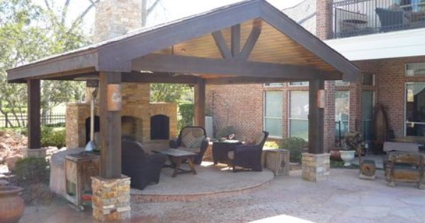 outdoor fireplace and living with a patio pavillion back porch addition home addition ideas pinterest porch addition porch and patios - Patio Addition Ideas