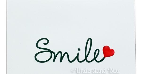 handmade card ... CAS Smile by UnderstandBlue ... one ...