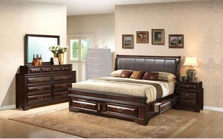 G8875c Qb3dmn 4 Piece Bedroom Set With Queen Size Storage Bed