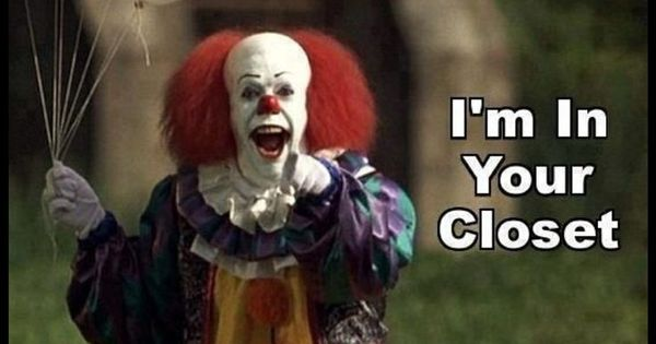 Scary Goodnight Picture Clowns Are Evil On Pinterest