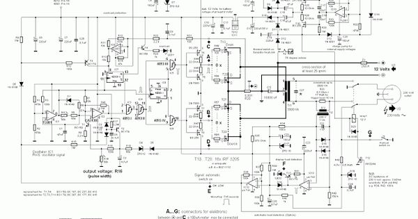 circuit diagram of 3000 watt power inverter 12v dc to 230v