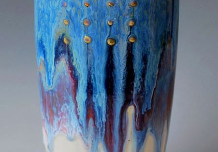 Daniel Hawkins; Glazed Ceramic Vessel, 2010s.