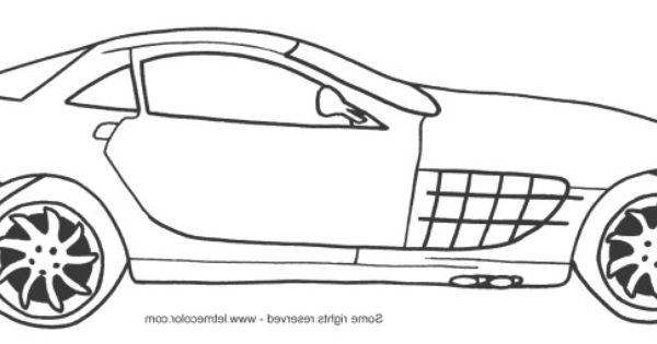 A new coat for anna coloring pages ~ Mercedes Benz SLR Mclaren Coloring Page | A New Coat for ...