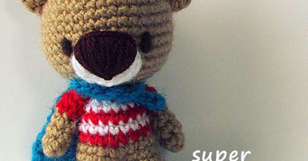 Amigurumi Little Bigfoot Panda : Super TED Free Amigurumi Pattern Patterns, Crochet and ...