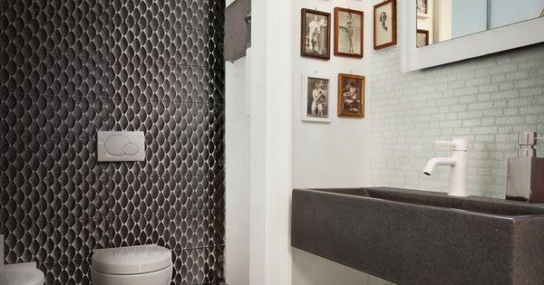 Badkamerdesign met moodboards van casamood badkamertrends pinterest met and van - Deco toilet ontwerp ...