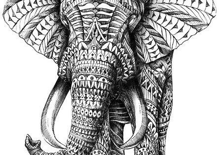 how to draw an elephant aztec elephant drawing aztec elephant elephants 6798