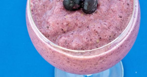 Blueberry Apple Smoothie (with cranberry juice)