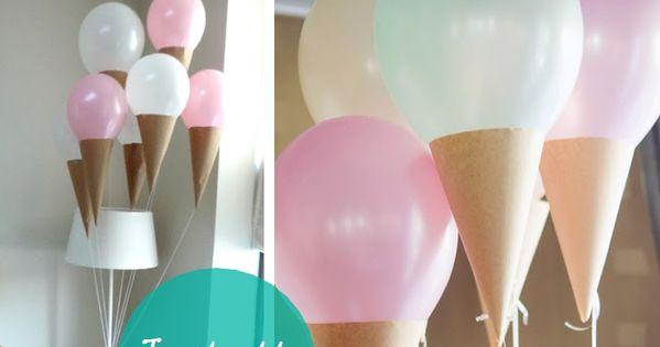 DIY Ice Cream Balloons Ice cream party!
