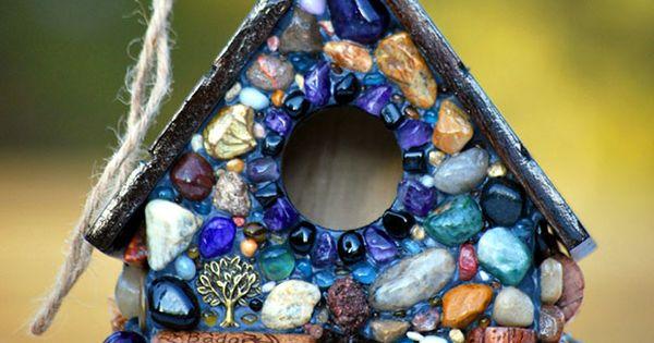 Wine Cork and Mosaic Stone Bird House // Etsy Wednesday: 5 Eco-Friendly