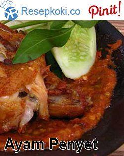 Resep Ayam Penyet Ala Restoran Resep Ayam Resep Masakan Indonesia Resep
