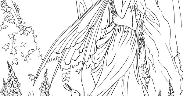 magical fairy coloring pages - photo#29