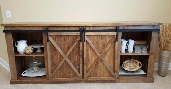 Barn Door Console Do It Yourself Home Projects From Ana