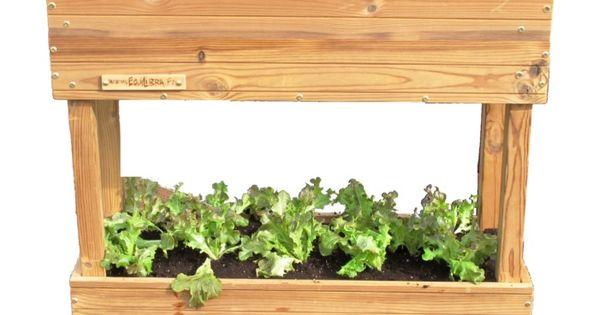 potager mobile double hauteur sur roulette quoi planter sur un balcon faiblement expos au. Black Bedroom Furniture Sets. Home Design Ideas
