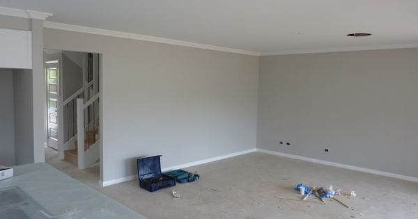 Dulux Quot Grey Pebble Quot Skirting Is Quot Vivid White Quot House