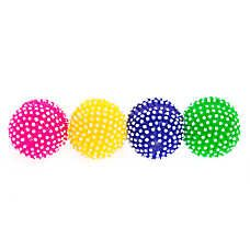 Grreat Choice Spiky Ball 4 Pack Dog Toy Squeaker Dog Ball