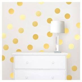 Wallpops Confetti Dots Set Of 2 Gold Confetti Wall Decals
