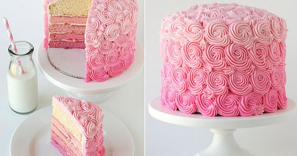 Ombre cake ideas. My birthday is soon....