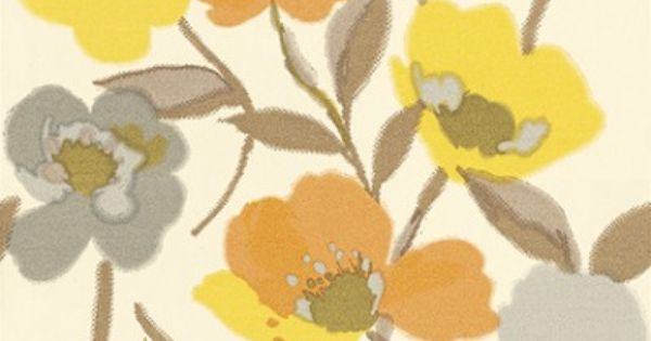 Wild Flowers 128030 Esta Home Wallpapers A Bold Stylised Floral Poppy Design With Bright