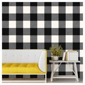Buffalo Plaid Peel Stick Wallpaper Black Threshold Peel And Stick Wallpaper Discount Bedroom Furniture Furniture