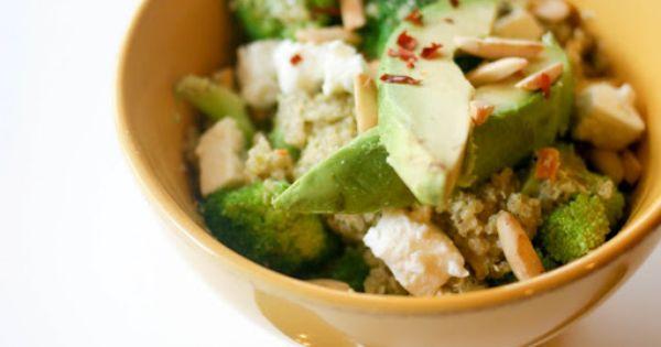 Quinoa Salad with Broccoli Pesto, Feta Cheese, Slivered ...