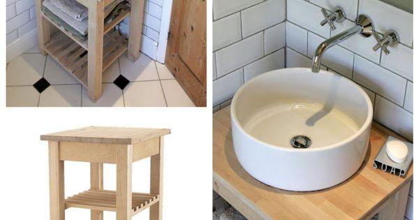 Une salle de bain ikea hacks d tournement de meubles ikea hacks et spas - Detournement de meuble ...